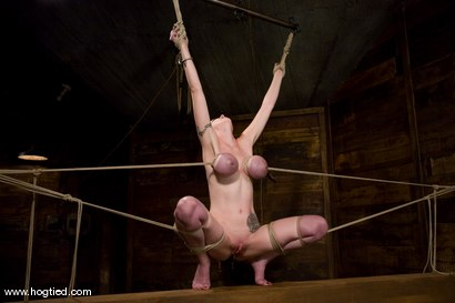 Photo number 14 from Red head with massive huge tits?<br>Then it must be Berlin. We love a girl who loves bondage. shot for Hogtied on Kink.com. Featuring Mz Berlin in hardcore BDSM & Fetish porn.