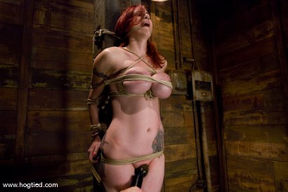 Photo number 7 from Red head with massive huge tits?<br>Then it must be Berlin. We love a girl who loves bondage. shot for Hogtied on Kink.com. Featuring Mz Berlin in hardcore BDSM & Fetish porn.