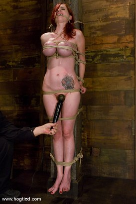 Photo number 8 from Red head with massive huge tits?<br>Then it must be Berlin. We love a girl who loves bondage. shot for Hogtied on Kink.com. Featuring Mz Berlin in hardcore BDSM & Fetish porn.