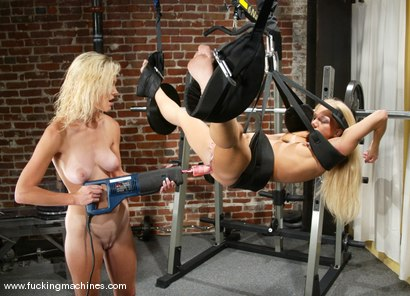 Photo number 11 from Squirting Blonds shot for Fucking Machines on Kink.com. Featuring Phoenix and Kylie Wilde in hardcore BDSM & Fetish porn.