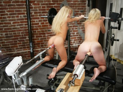 Photo number 6 from Squirting Blonds shot for Fucking Machines on Kink.com. Featuring Phoenix and Kylie Wilde in hardcore BDSM & Fetish porn.