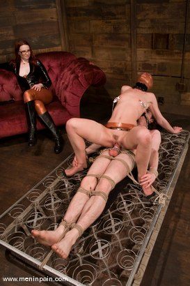Photo number 13 from Miss Adams shot for Men In Pain on Kink.com. Featuring Kade, Claire Adams and Riley Shy in hardcore BDSM & Fetish porn.