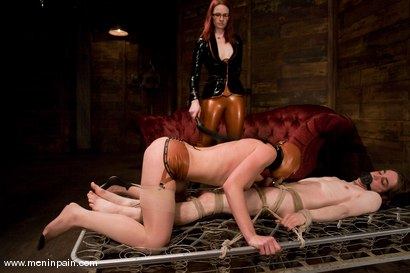 Photo number 7 from Miss Adams shot for Men In Pain on Kink.com. Featuring Kade, Claire Adams and Riley Shy in hardcore BDSM & Fetish porn.