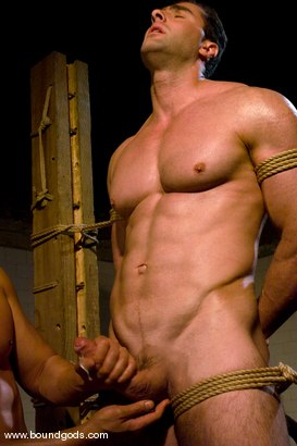 Photo number 14 from The Straight Bodybuilder shot for Bound Gods on Kink.com. Featuring Van Darkholme and Nick Armani in hardcore BDSM & Fetish porn.