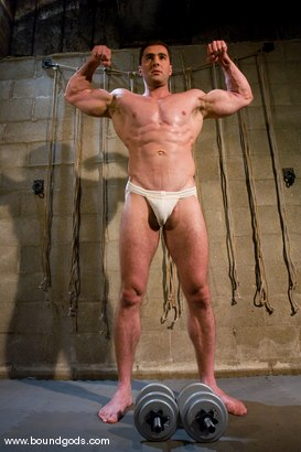 Photo number 1 from The Straight Bodybuilder shot for Bound Gods on Kink.com. Featuring Van Darkholme and Nick Armani in hardcore BDSM & Fetish porn.