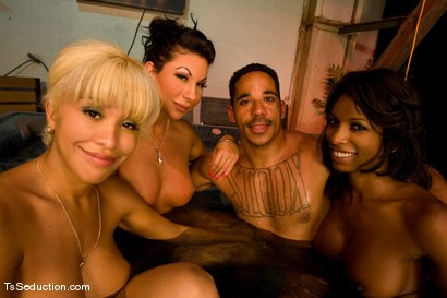 Photo number 15 from Road Trip day 4 shot for TS Seduction on Kink.com. Featuring Natassia Dreams, Ariel Everitts, Jessica Host, Lobo and Jesse in hardcore BDSM & Fetish porn.