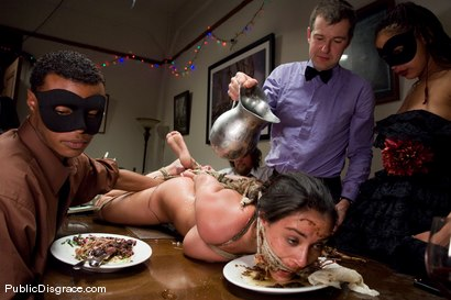 Photo number 10 from CLASSIC ARCHIVE SHOOT: The Dinner Party shot for Public Disgrace on Kink.com. Featuring Charley Chase and Princess Donna Dolore in hardcore BDSM & Fetish porn.