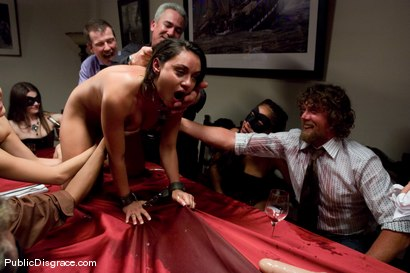 Photo number 7 from CLASSIC ARCHIVE SHOOT: The Dinner Party shot for Public Disgrace on Kink.com. Featuring Charley Chase and Princess Donna Dolore in hardcore BDSM & Fetish porn.