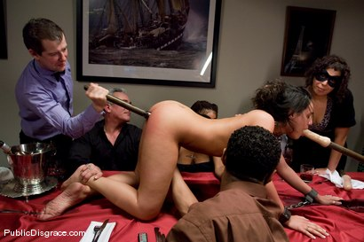 Photo number 5 from CLASSIC ARCHIVE SHOOT: The Dinner Party shot for Public Disgrace on Kink.com. Featuring Charley Chase and Princess Donna Dolore in hardcore BDSM & Fetish porn.
