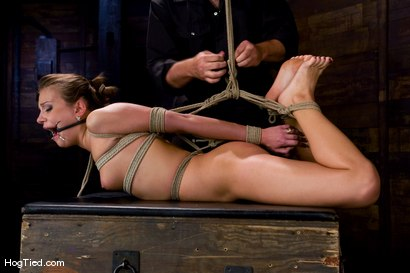 Photo number 6 from Welcome another new beautiful face to Hogtied.<br> 21 year old Nika Noire is hot and helpless. shot for Hogtied on Kink.com. Featuring Sgt. Major and Nika Noire in hardcore BDSM & Fetish porn.