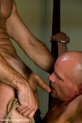 Photo number 5 from The Cat Burglar and His Prey shot for Bound Gods on Kink.com. Featuring Chad Rock and Luka in hardcore BDSM & Fetish porn.