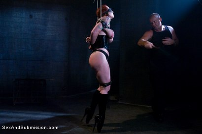 Photo number 3 from Submission of Kylie Ireland shot for Sex And Submission on Kink.com. Featuring Mark Davis and Kylie Ireland in hardcore BDSM & Fetish porn.