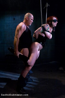 Photo number 4 from Submission of Kylie Ireland shot for Sex And Submission on Kink.com. Featuring Mark Davis and Kylie Ireland in hardcore BDSM & Fetish porn.