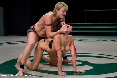 Photo number 14 from SUMMER VENGEANCE CONTINUES! <BR>This is the first elimination match <br>of the second round. shot for Ultimate Surrender on Kink.com. Featuring Adrianna Nicole and Annie Cruz in hardcore BDSM & Fetish porn.