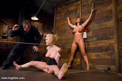 Photo number 3 from Samantha Sin and Trina Michaels   Sharing the Hogtied experience never looked so good. shot for Hogtied on Kink.com. Featuring Trina Michaels and Samantha Sin in hardcore BDSM & Fetish porn.
