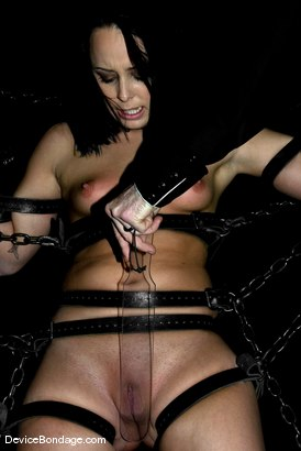 Photo number 6 from Chinese Chair shot for Device Bondage on Kink.com. Featuring Alexa Von Tess and Damon Pierce in hardcore BDSM & Fetish porn.