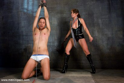 Photo number 9 from Latex Dominatrix Meets Corporate Scum shot for Men In Pain on Kink.com. Featuring Brian Mayor and Penny Flame in hardcore BDSM & Fetish porn.