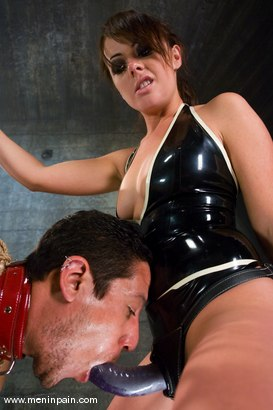 Photo number 11 from Latex Dominatrix Meets Corporate Scum shot for Men In Pain on Kink.com. Featuring Brian Mayor and Penny Flame in hardcore BDSM & Fetish porn.