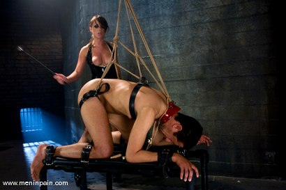 Photo number 4 from Latex Dominatrix Meets Corporate Scum shot for Men In Pain on Kink.com. Featuring Brian Mayor and Penny Flame in hardcore BDSM & Fetish porn.