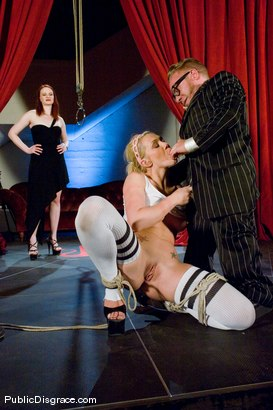 Photo number 4 from Samantha Sin fucked in front of live audience shot for Public Disgrace on Kink.com. Featuring Claire Adams and Samantha Sin in hardcore BDSM & Fetish porn.