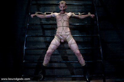 Photo number 4 from Hungry Like the Wolf shot for Bound Gods on Kink.com. Featuring Nomad and Wolf Hudson in hardcore BDSM & Fetish porn.