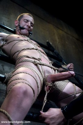 Photo number 6 from Hungry Like the Wolf shot for Bound Gods on Kink.com. Featuring Nomad and Wolf Hudson in hardcore BDSM & Fetish porn.