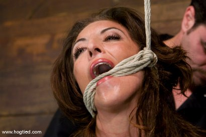 Photo number 2 from Welcome back Gina Caruso<br> MILF, fitness model and sports announcer. shot for Hogtied on Kink.com. Featuring Gina Caruso and Luke Degre in hardcore BDSM & Fetish porn.