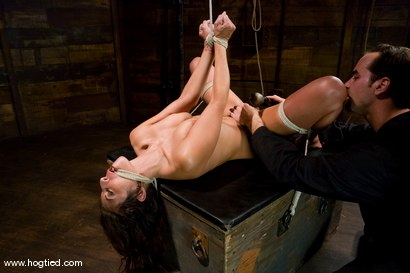 Photo number 7 from Welcome back Gina Caruso<br> MILF, fitness model and sports announcer. shot for Hogtied on Kink.com. Featuring Gina Caruso and Luke Degre in hardcore BDSM & Fetish porn.