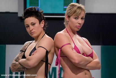 Photo number 1 from SUMMER VENGEANCE CONTINUES! <BR>This is the last quarterfinals match up. shot for Ultimate Surrender on Kink.com. Featuring Adrianna Nicole and Syd Blakovich in hardcore BDSM & Fetish porn.