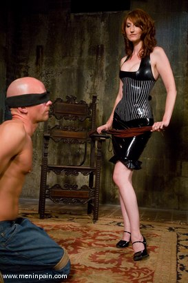 Photo number 2 from Entertainment for a Mistress shot for Men In Pain on Kink.com. Featuring Kendra James and Chad Rock in hardcore BDSM & Fetish porn.