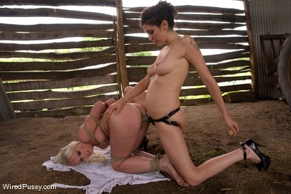 Photo number 13 from Beautiful Russian blond tries bondage for the first time and loves it!!!! shot for Wired Pussy on Kink.com. Featuring Princess Donna Dolore and Erika Angel in hardcore BDSM & Fetish porn.