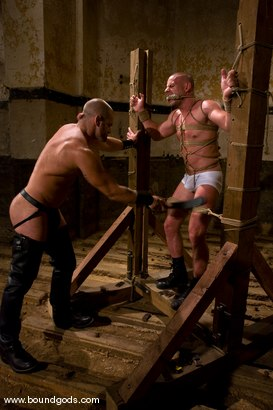 Photo number 1 from Ring The Bell shot for Bound Gods on Kink.com. Featuring Tober Brandt and Park Wiley in hardcore BDSM & Fetish porn.
