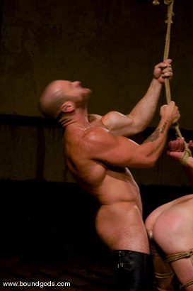 Photo number 6 from Ring The Bell shot for Bound Gods on Kink.com. Featuring Tober Brandt and Park Wiley in hardcore BDSM & Fetish porn.