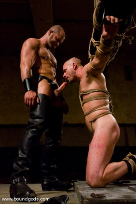 Photo number 7 from Ring The Bell shot for Bound Gods on Kink.com. Featuring Tober Brandt and Park Wiley in hardcore BDSM & Fetish porn.