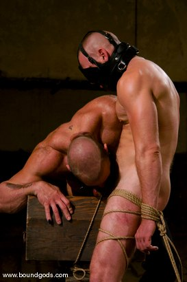 Photo number 9 from Ring The Bell shot for Bound Gods on Kink.com. Featuring Tober Brandt and Park Wiley in hardcore BDSM & Fetish porn.