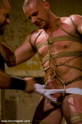Photo number 2 from Ring The Bell shot for Bound Gods on Kink.com. Featuring Tober Brandt and Park Wiley in hardcore BDSM & Fetish porn.