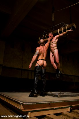 Photo number 14 from Ring The Bell shot for Bound Gods on Kink.com. Featuring Tober Brandt and Park Wiley in hardcore BDSM & Fetish porn.