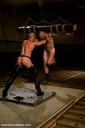 Photo number 4 from Ring The Bell shot for Bound Gods on Kink.com. Featuring Tober Brandt and Park Wiley in hardcore BDSM & Fetish porn.