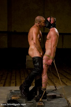 Photo number 8 from Ring The Bell shot for Bound Gods on Kink.com. Featuring Tober Brandt and Park Wiley in hardcore BDSM & Fetish porn.