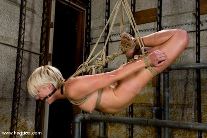Photo number 9 from Vendetta returns to Hogtied <br> You can only see her exclusively  at Kink. shot for Hogtied on Kink.com. Featuring Vendetta and Claire Adams in hardcore BDSM & Fetish porn.