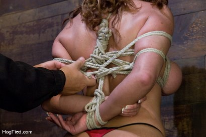 Photo number 8 from BONDAGE TUTORIAL<br> A bonus update to inform members on basic ties and techniques. shot for Hogtied on Kink.com. Featuring Christina Carter in hardcore BDSM & Fetish porn.