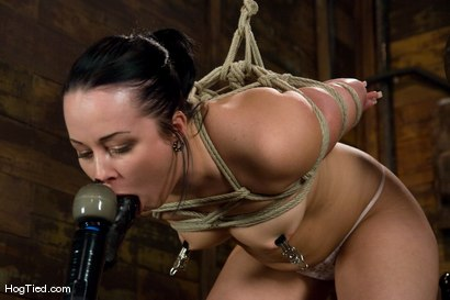 Photo number 2 from Alexa bound and made to come again & again shot for Hogtied on Kink.com. Featuring Lochai and Alexa Von Tess in hardcore BDSM & Fetish porn.