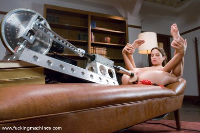 Photo number 9 from Double Penetration, Double Anal - the one and only Amber Rayne shot for Fucking Machines on Kink.com. Featuring Amber Rayne in hardcore BDSM & Fetish porn.