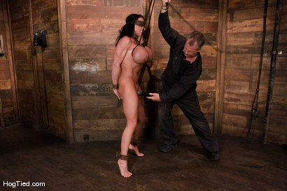 Photo number 14 from There are big tits and then there is MASSIVE!<br>Welcome Lisa Lipps to her first bondage scene ever. shot for Hogtied on Kink.com. Featuring Lisa Lipps in hardcore BDSM & Fetish porn.