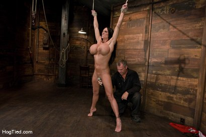 Photo number 4 from There are big tits and then there is MASSIVE!<br>Welcome Lisa Lipps to her first bondage scene ever. shot for Hogtied on Kink.com. Featuring Lisa Lipps in hardcore BDSM & Fetish porn.