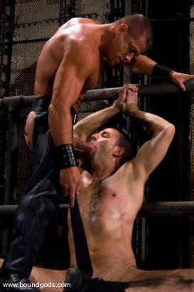 Photo number 1 from Master Tyler Saint and slave jason miller shot for Bound Gods on Kink.com. Featuring Jason Miller and Tyler Saint in hardcore BDSM & Fetish porn.