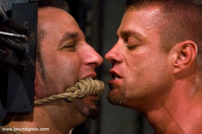 Photo number 7 from Master Tyler Saint and slave jason miller shot for Bound Gods on Kink.com. Featuring Jason Miller and Tyler Saint in hardcore BDSM & Fetish porn.