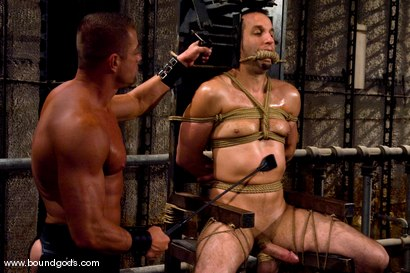 Photo number 5 from Master Tyler Saint and slave jason miller shot for Bound Gods on Kink.com. Featuring Jason Miller and Tyler Saint in hardcore BDSM & Fetish porn.