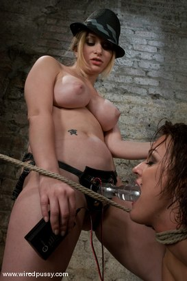 Photo number 8 from First Timer: Sara Faye shot for Wired Pussy on Kink.com. Featuring Sara Faye and Aiden Starr in hardcore BDSM & Fetish porn.