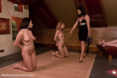 Photo number 4 from Sex Servants shot for Sex And Submission on Kink.com. Featuring Steve Holmes, Lea Lexis, Crystal Crown and Sandra Romain in hardcore BDSM & Fetish porn.
